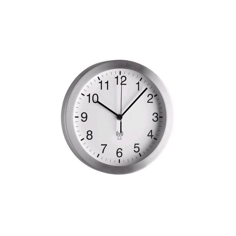 Horloge métal alu - Verre minéral - Diam 250mm