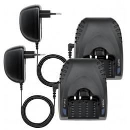 Paire de talkies walkies étanches IPX6 + 2 accus et 2 chargeur - Portée 5km