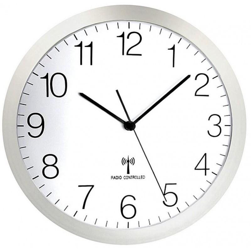 Horloge ABS - Radio pilotée - Verre minéral - Diam 300mm - Silencieuse