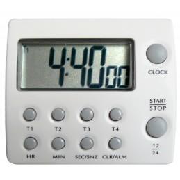 Minuteur - Compteur - 4 décompteurs 100 h - 5 canaux