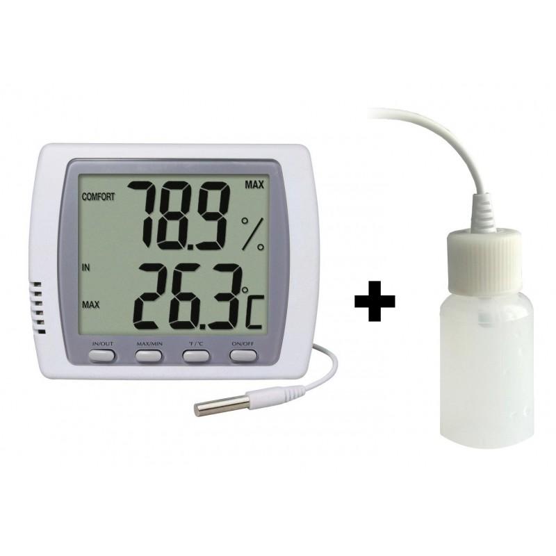 Double thermomètre - hygromètre + Ralentisseur thermique