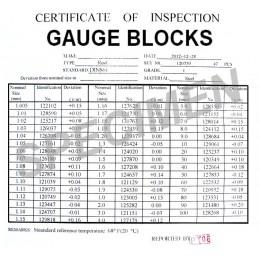 Coffret de 47 cales étalon Classe 1 - DIN861/1