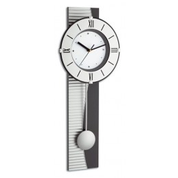 """Horloge """"design"""" avec balancier"""