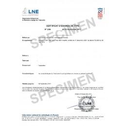Certificat pour Odomètre mécanique homologué