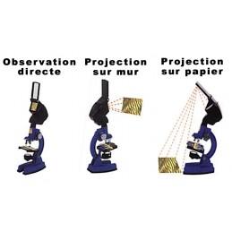 Coffret microscope éducatif - Avec écran et projecteur