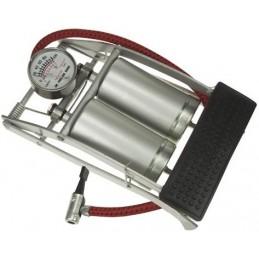 Pompe à pied double cylindre + manomètre