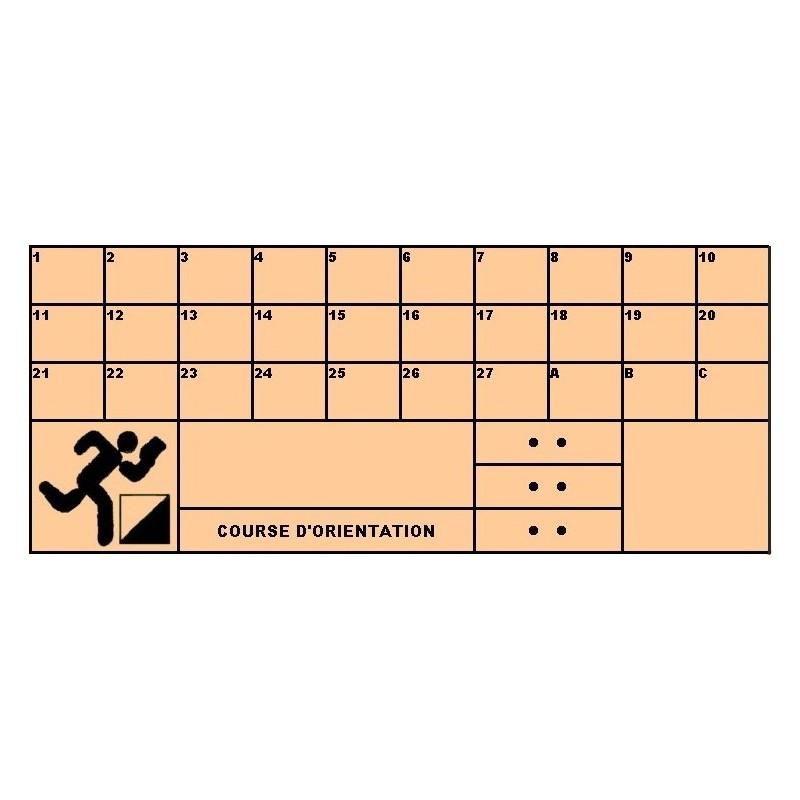Carton de contrôle pour course dorientation