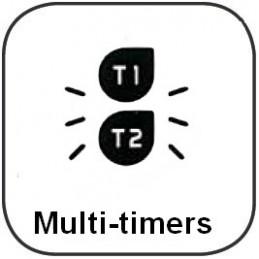 Minuteur - Jusqu'à 2 compteurs et/ou 2 décompteurs - 2 lignes d'affichage - Lumineux et/ou sonore (volume)