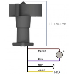 Anémomètre de grue avec sortie relais - Alarme de vitesse réglable