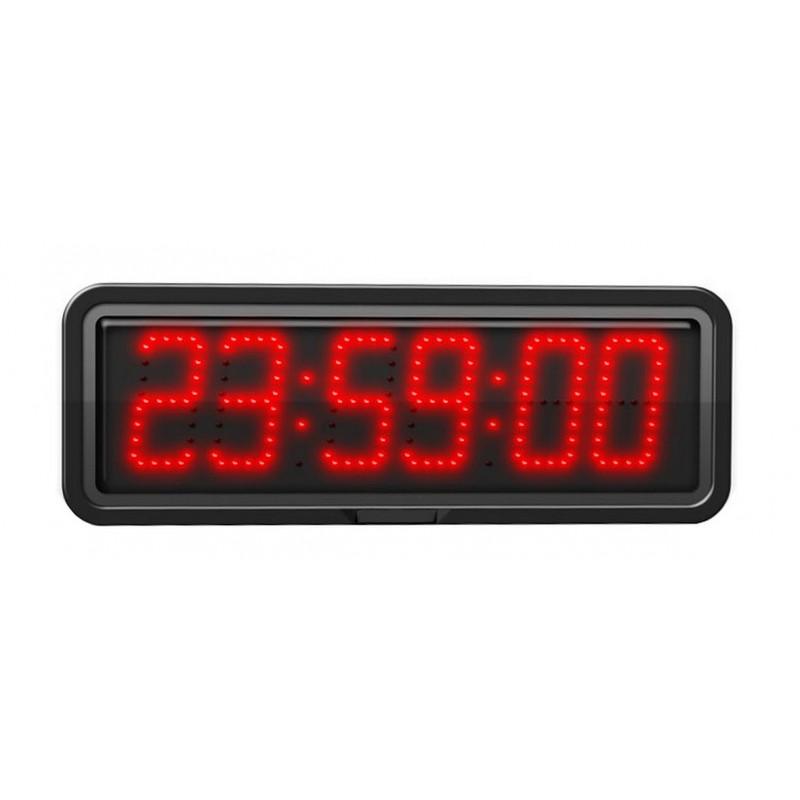 Horloge à diodes Heures/minutes/secondes et date - Chiffres 10 cm