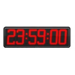 Horloge à diodes Heures/minutes/secondes et date - Chiffres 20 cm