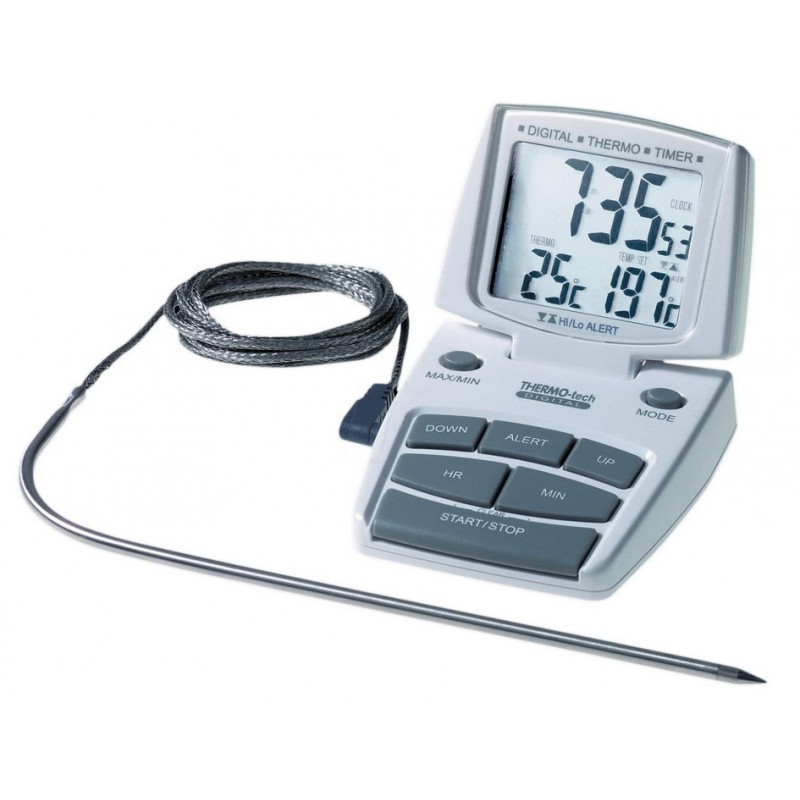 Thermomètre spécial four - Alarme T° - Minuteur