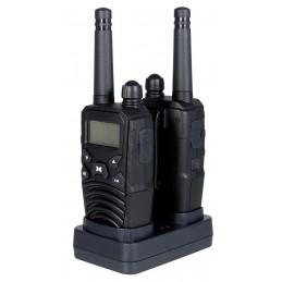 Paire talkies-walkies + accus et double chargeur – Portée 10km