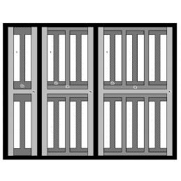 Mallette universelle semi-rigide nylon - Compartiments multiples (3 niveaux)