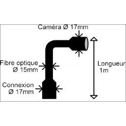 Endoscope LCD - Caméra fibre optique jusqu'à 10 mètres
