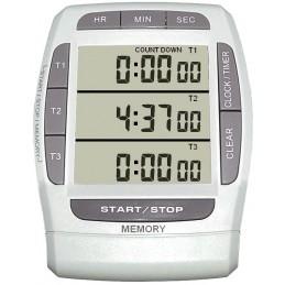 Minuteur - Chronomètre 1/100e -Jusqu'à 3 compteurs et/ou décompteurs 20 h - 4 canaux - 3 lignes