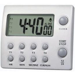 Minuteur - Jusqu'à 4 compteurs et/ou décompteurs 100 h - 4 canaux