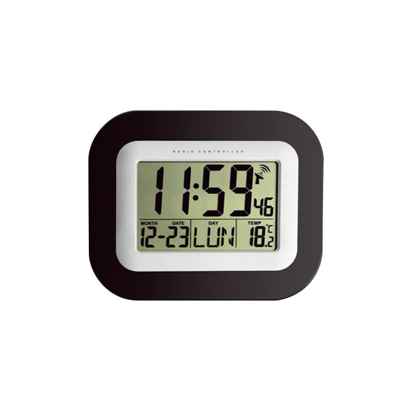 Horloge LCD - Radio pilotée - Hr/Min/Date/température - Chiffres 50mm