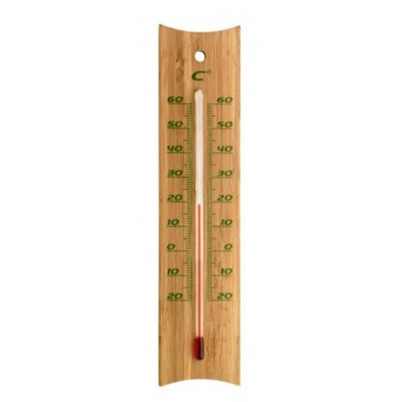 Themomètre analogique en bambou
