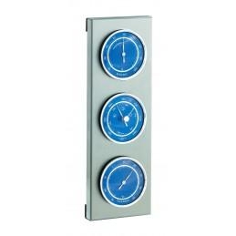 Station météo mécanique extérieur - Acier / Cadrans bleus