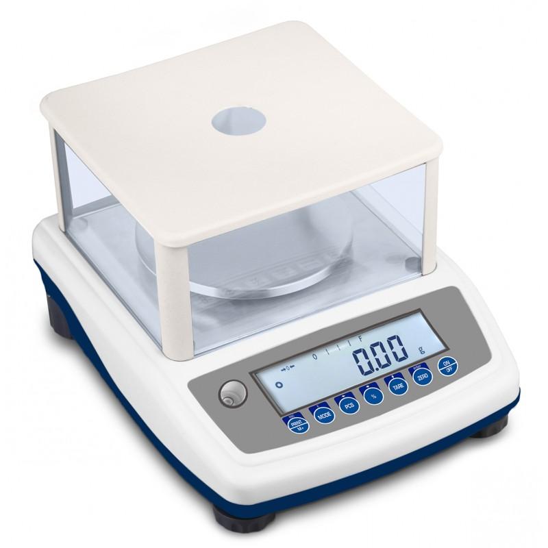 Balance de laboratoire homologuée - Portée 600g ou 6000g et Lecture 0,01 ou 0,1g