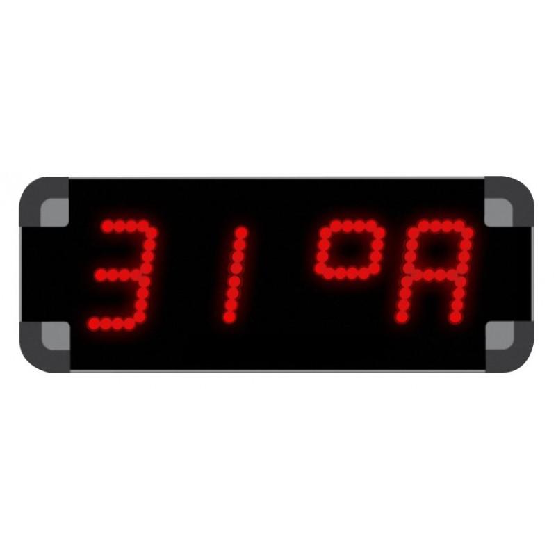 Horloge de piscine à diodes - Température air et bassin
