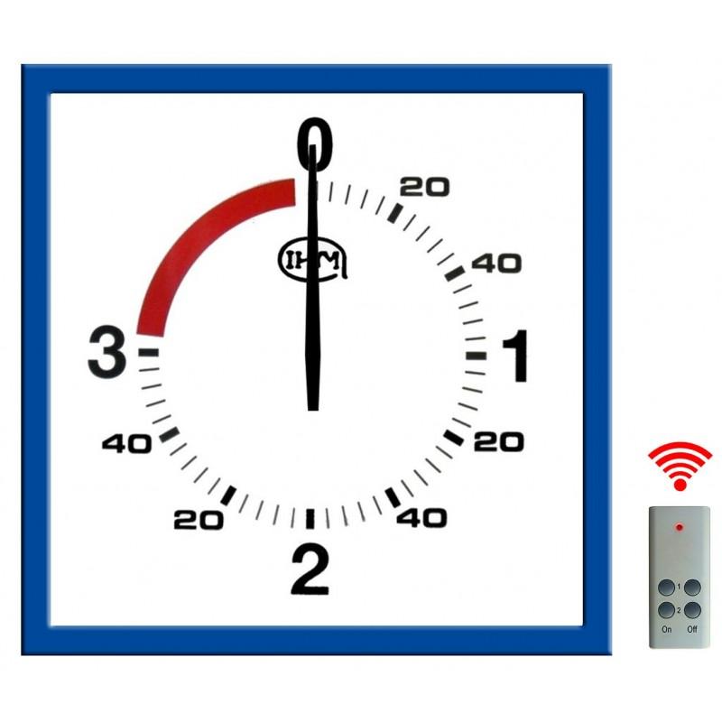 Pendule de boxe anglaise 3 mn + 1 mn - L : 625x625 mm - Télécommande sans fil