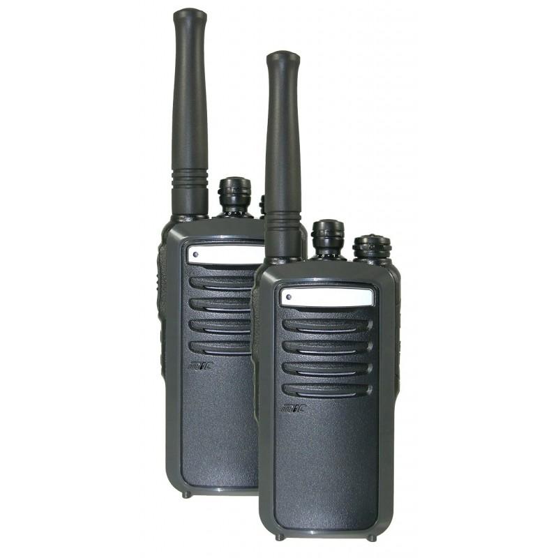 Mallette de talkies-walkies PRO - Portée 5 km - Etanche IP54