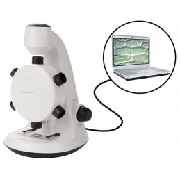 Microscope avec 6 objectifs - Jusqu'à 600X - Connexion PC