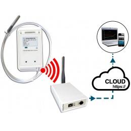 """Enregistreur de température filaire """"chaîne du froid"""" + Hub récepteur"""
