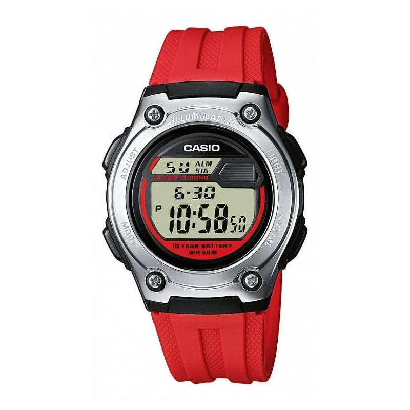 Montre multisports Casio - Bracelet Rouge