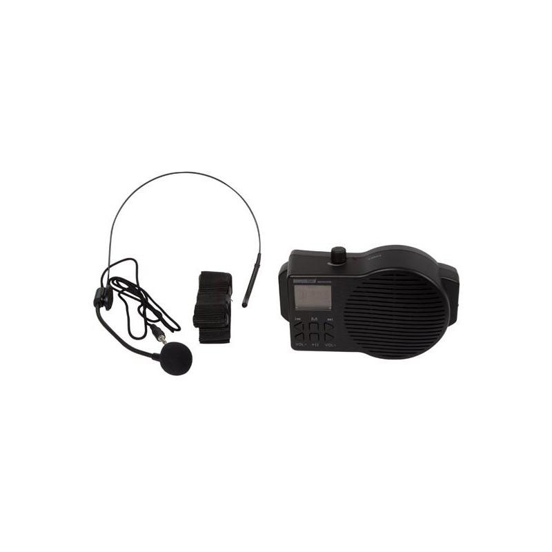 Mégaphone portatif avec micro-casque