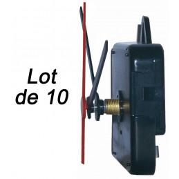 Lot de 10 mouvements d'horlogerie quartz - Canon de 13 à 19mm