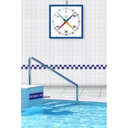 Compte secondes cruciforme IHM de natation - Dim : 625x625 mm