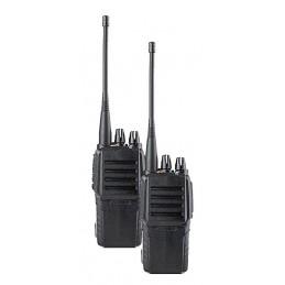 Paire de talkies walkies étanches IPX6 + 2 accus et 2 chargeurs - Portée 5km