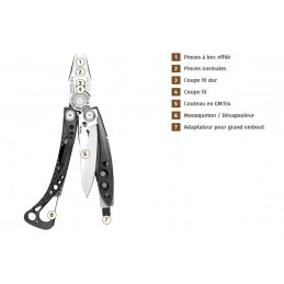 Pince/Couteau multifonctions Skeletool® CX - 7 fonctions