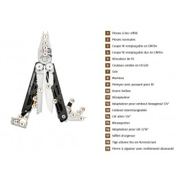 Pince/Couteau multifonctions Signal® - 19 outils