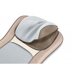 Siège de massage Shiatsu et 3D - Dos et nuque - Coloris beige