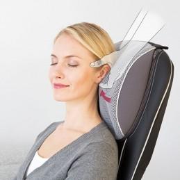 Siège de massage Shiatsu et 3D - Dos et nuque - Coloris noir