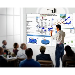 Tableau virtuel interactif connectée PC - Utilisation avec ou sans projecteur