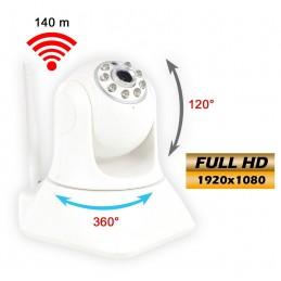 Caméra de surveillance Full HD - Utilisation intérieur - Full HD - Transmission Wifi ou RJ45 sur routeur vers PC/smartphone