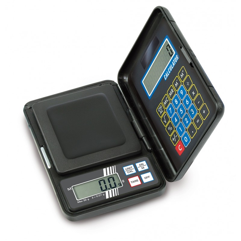 Balance de poche avec calculatrice