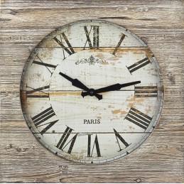 "Horloge ""Vintage"" - Cadran bois 500x500mm"