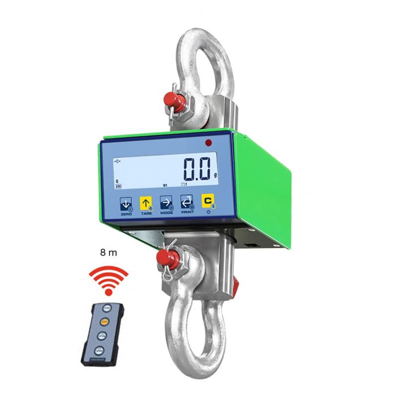 Dynamomètre à grue avec télécommande - A partir de 1500kg/0,5kg