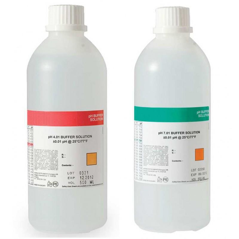 Solution d'étalonnage pH4 et pH7