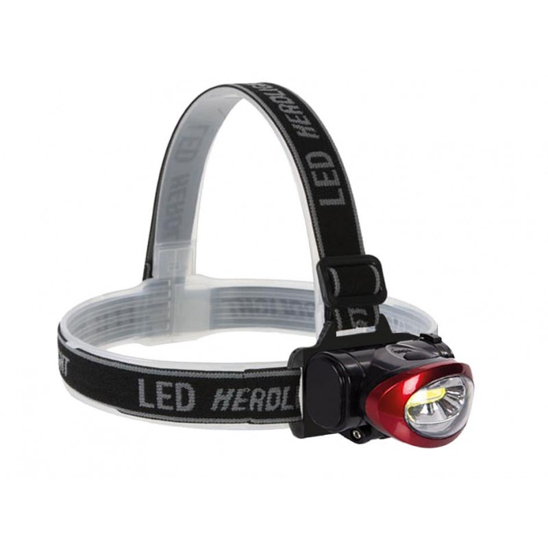 Lampe frontale 1 LED blanche ultra puissante