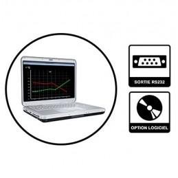 Logiciel et câble RS232 pour mesureur d épaisseur 1250TG/KE