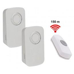 Jeu de 2 sonnettes sur piles avec bouton d appel sans fil