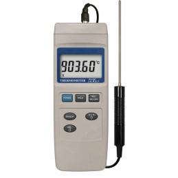 Thermomètre digital PT100 avec sonde - Connexion pour sondes type K, J, E, T et R