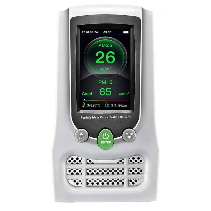 Mesureur qualité de lair - Particules / Thermo/hygro / CO2 et Formaldéhydes - Transmission WiFi